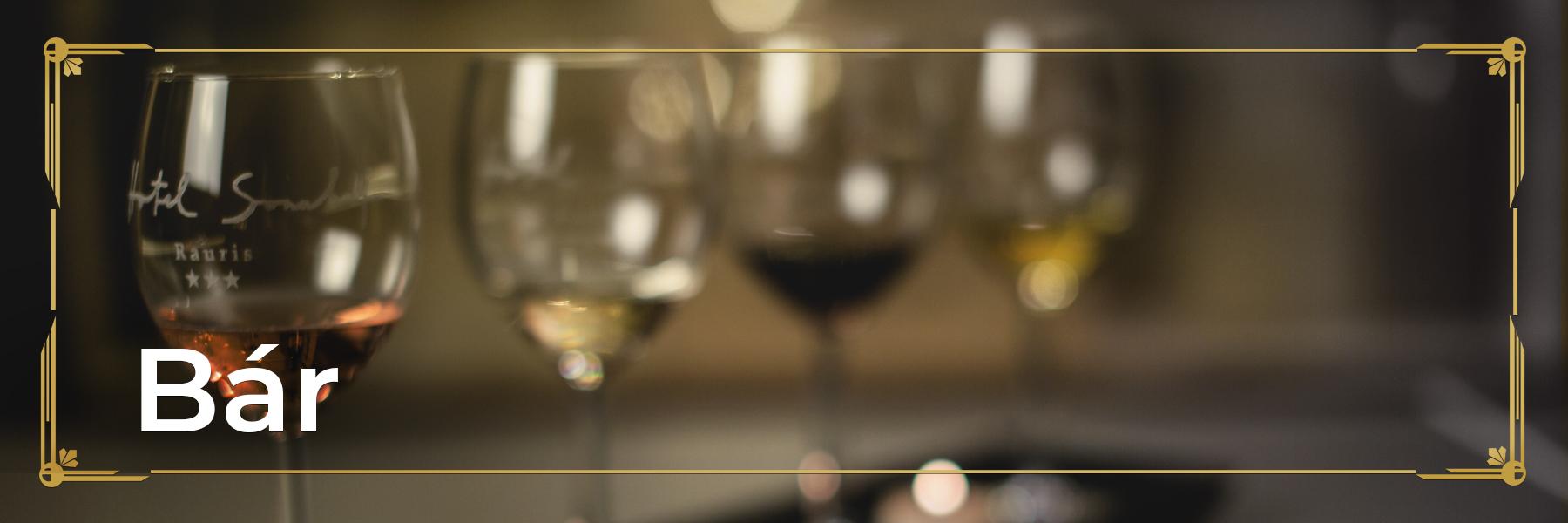 Four glasses of wine half full